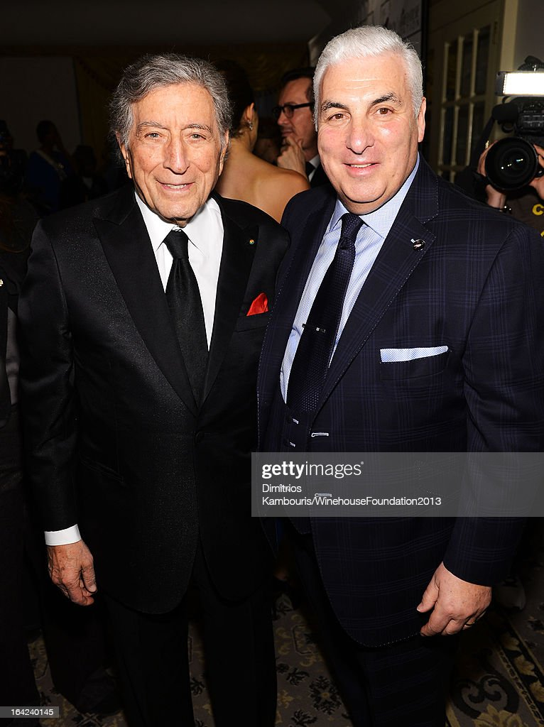 <a gi-track='captionPersonalityLinkClicked' href=/galleries/search?phrase=Tony+Bennett+-+Singer&family=editorial&specificpeople=160951 ng-click='$event.stopPropagation()'>Tony Bennett</a> and Mitch Winehouse attend the 2013 Amy Winehouse Foundation Inspiration Awards and Gala at The Waldorf=Astoria on March 21, 2013 in New York City.