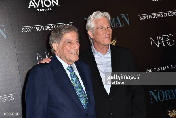 Tony Bennett and Richard Gere attend The Cinema Society with NARS AVION host a screening of Sony Pictures Classics' 'Norman' at the Whitby Hotel on...