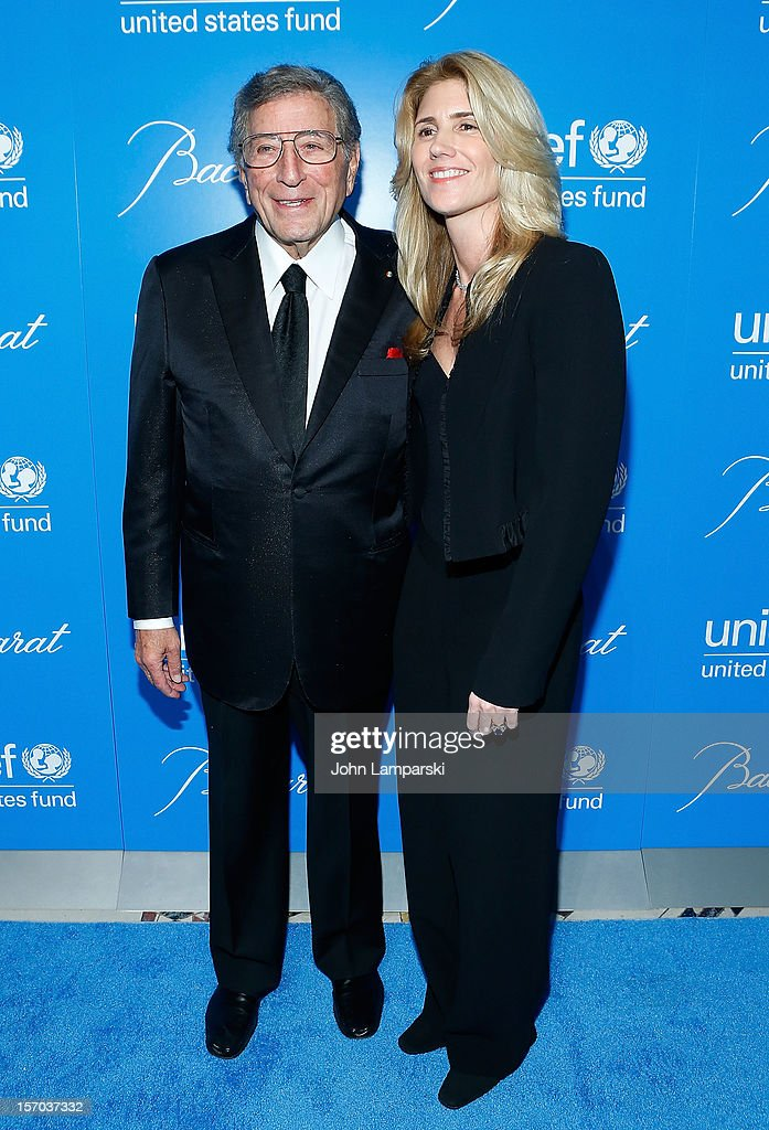 <a gi-track='captionPersonalityLinkClicked' href=/galleries/search?phrase=Tony+Bennett+-+Singer&family=editorial&specificpeople=160951 ng-click='$event.stopPropagation()'>Tony Bennett</a> and Susan Bennett attend UNICEF Snowflake Ball 2012 at Cipriani 42nd Street on November 27, 2012 in New York City.