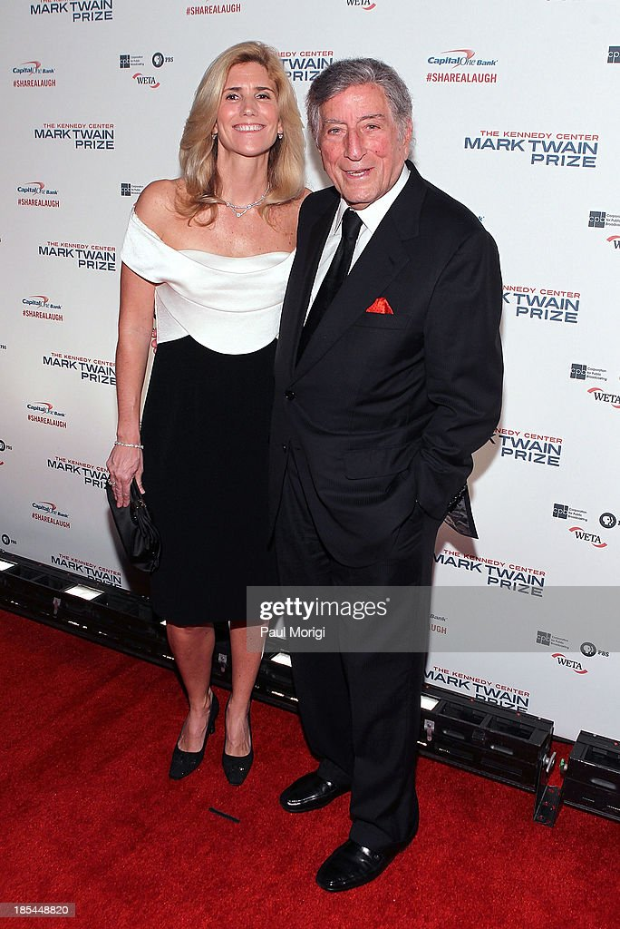 Tony Bennett and Susan Crow attend The 16th Annual Mark Twain Prize For American Humor at John F. Kennedy Center for the Performing Arts on October 20, 2013 in Washington, DC.