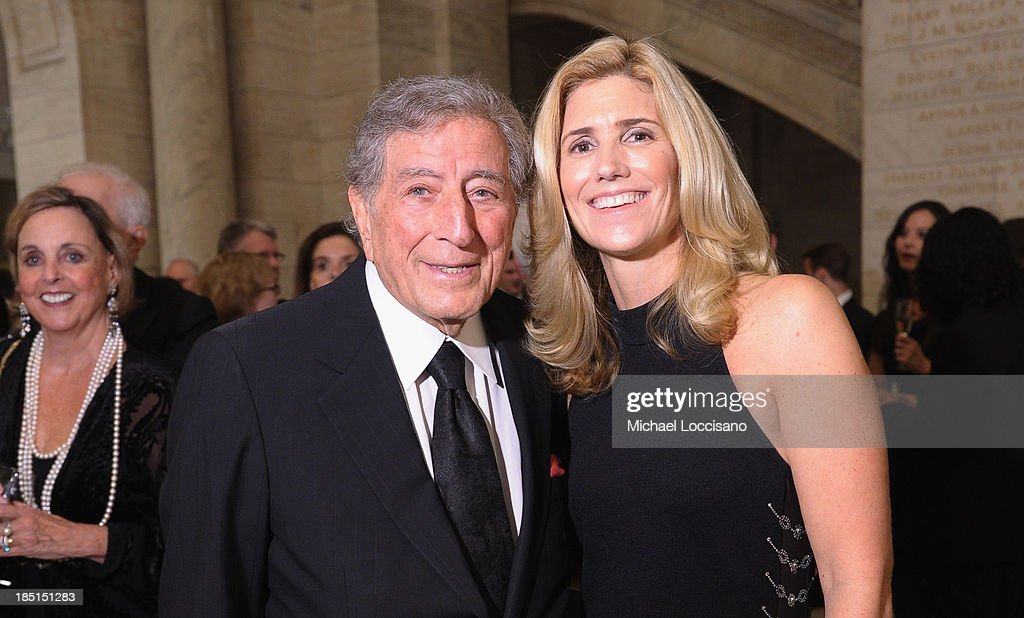 Tony Bennett and Susan Crow attend the Norman Mailer Center's Fifth Annual Benefit Gala sponsored by Van Cleef & Arpels at the New York Public Library on October 17, 2013 in New York City.