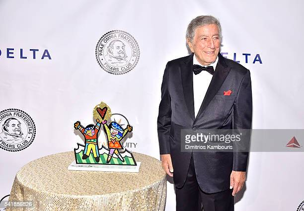 Tony Bennett attends as the Friars Club Honors Tony Bennett With The Entertainment Icon Award Arrivals at New York Sheraton Hotel Tower on June 20...