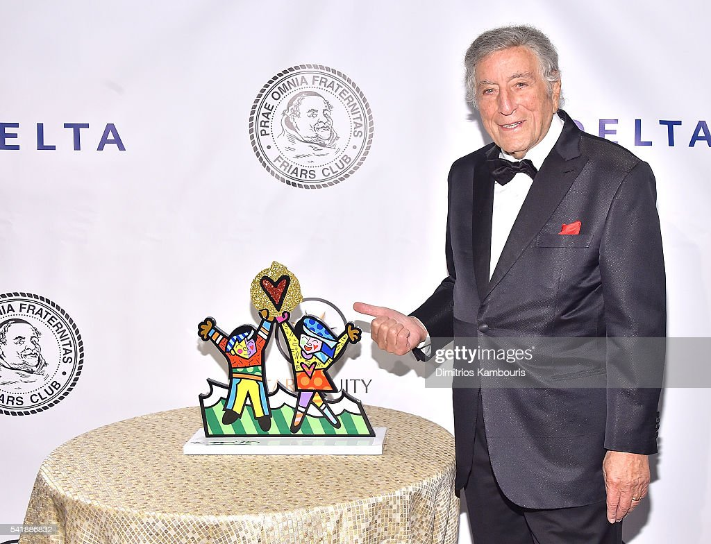 Tony Bennett attends as the Friars Club Honors Tony Bennett With The Entertainment Icon Award - Arrivals at New York Sheraton Hotel & Tower on June 20, 2016 in New York City.