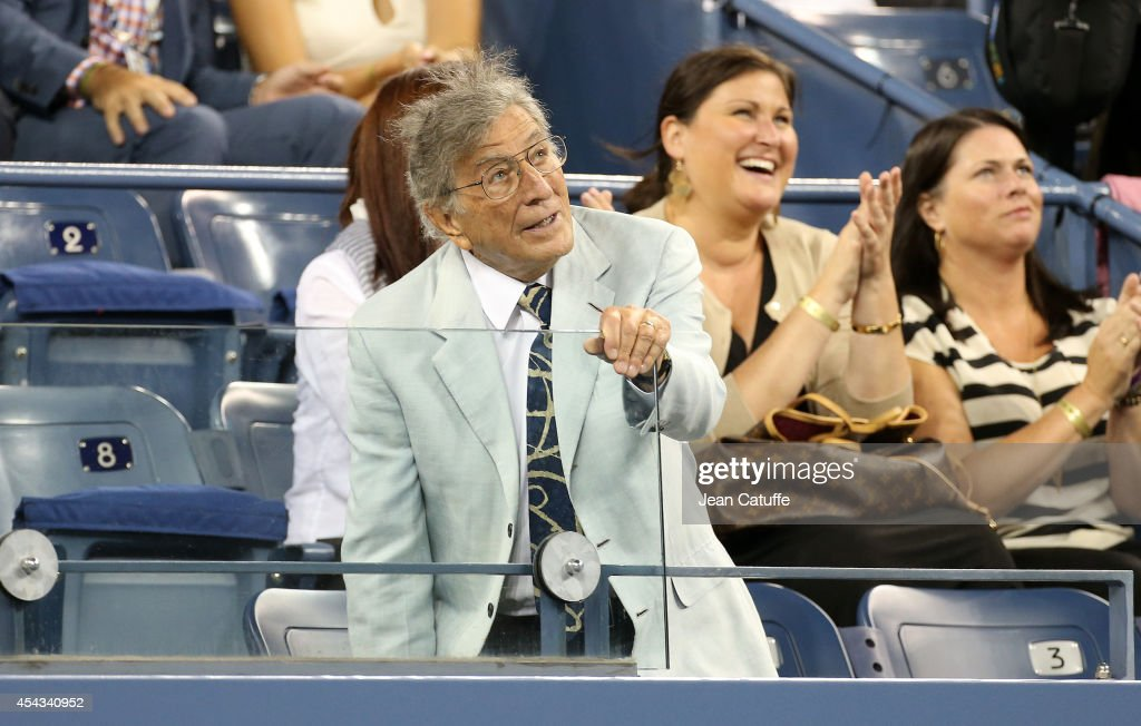 Tony Bennett attends Day 4 of the 2014 US Open at USTA Billie Jean King National Tennis Center on August 28 2014 in the Flushing neighborhood of the...