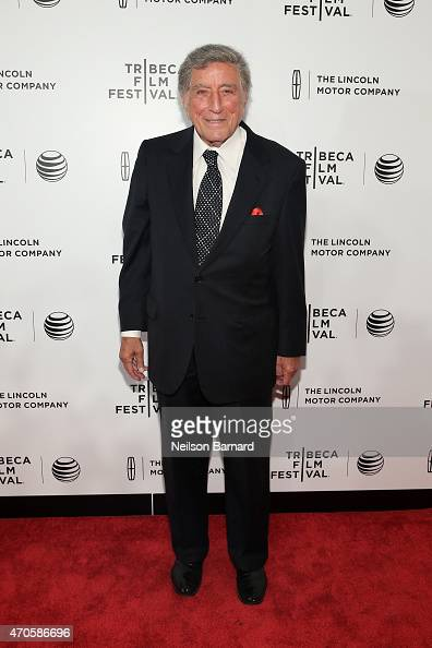 Tony Bennett attends Sinatra at 100 Music and Film Lincoln Screening of 'On The Town' and performances during the 2015 Tribeca Film Festival at...
