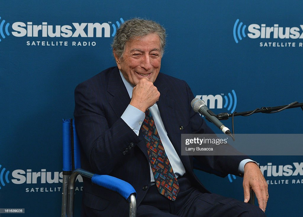 Tony Bennett attends 'SiriusXM's Town Hall with Tony Bennett' and Moderator Alec Baldwin at SiriusXM Studio on February 13, 2013 in New York City.