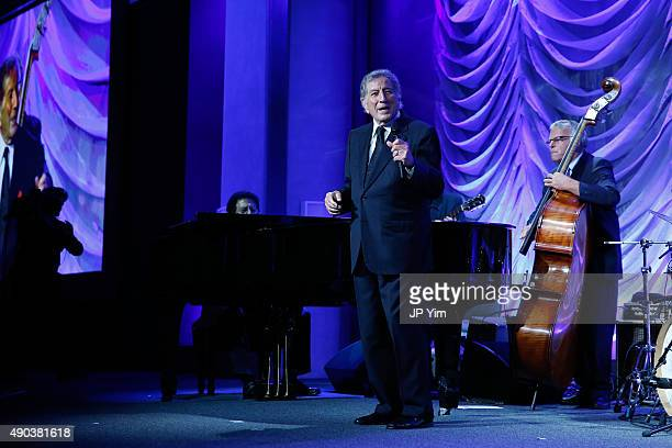 Tony Bennett attends the Clinton Global Citizen Awards during the second day of the 2015 Clinton Global Initiative's Annual Meeting at the Sheraton...
