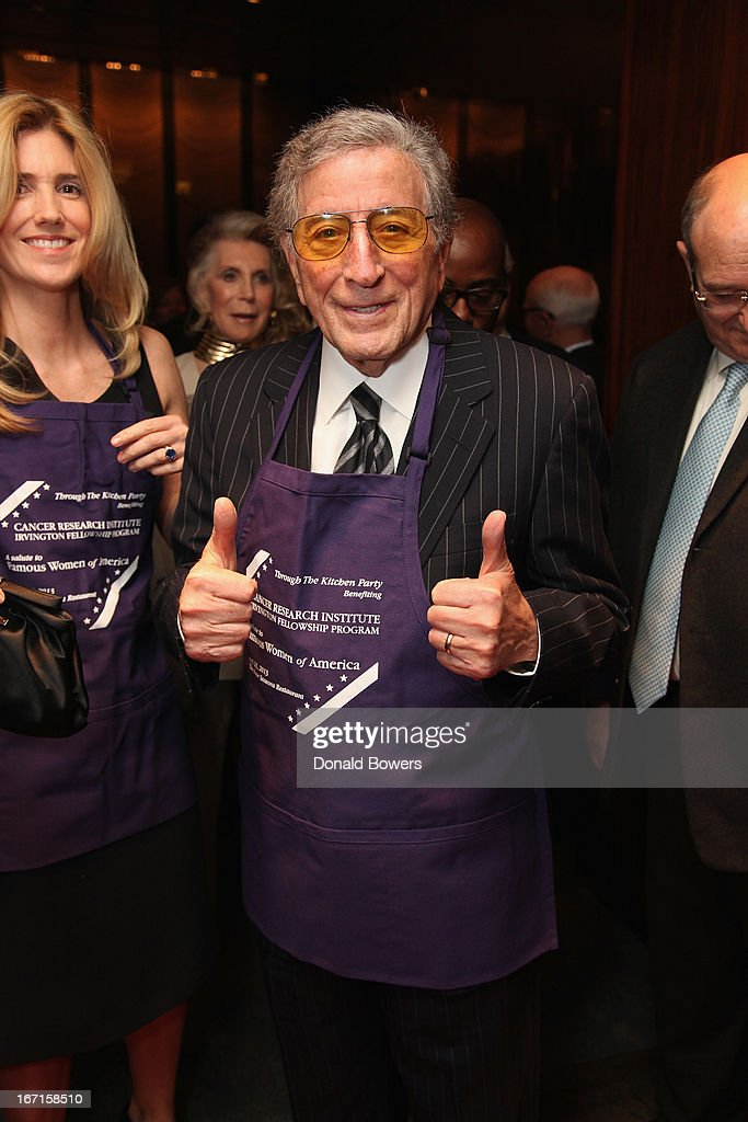 <a gi-track='captionPersonalityLinkClicked' href=/galleries/search?phrase=Tony+Bennett+-+Singer&family=editorial&specificpeople=160951 ng-click='$event.stopPropagation()'>Tony Bennett</a> attends The Through The Kitchen Party Benefit For Cancer Research Institute on April 21, 2013 in New York City.