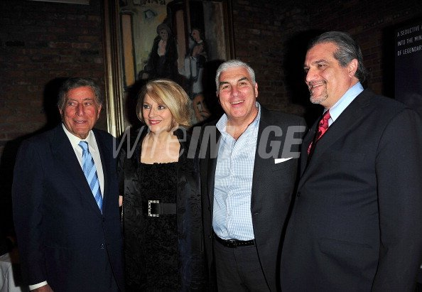 Tony Bennett Cynthia Germanotta Joe Germanotta and Mitch