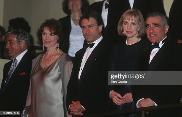 Tony Bennett Ellen Burstyn Robert De Niro Helen Morris and Martin Scorsese