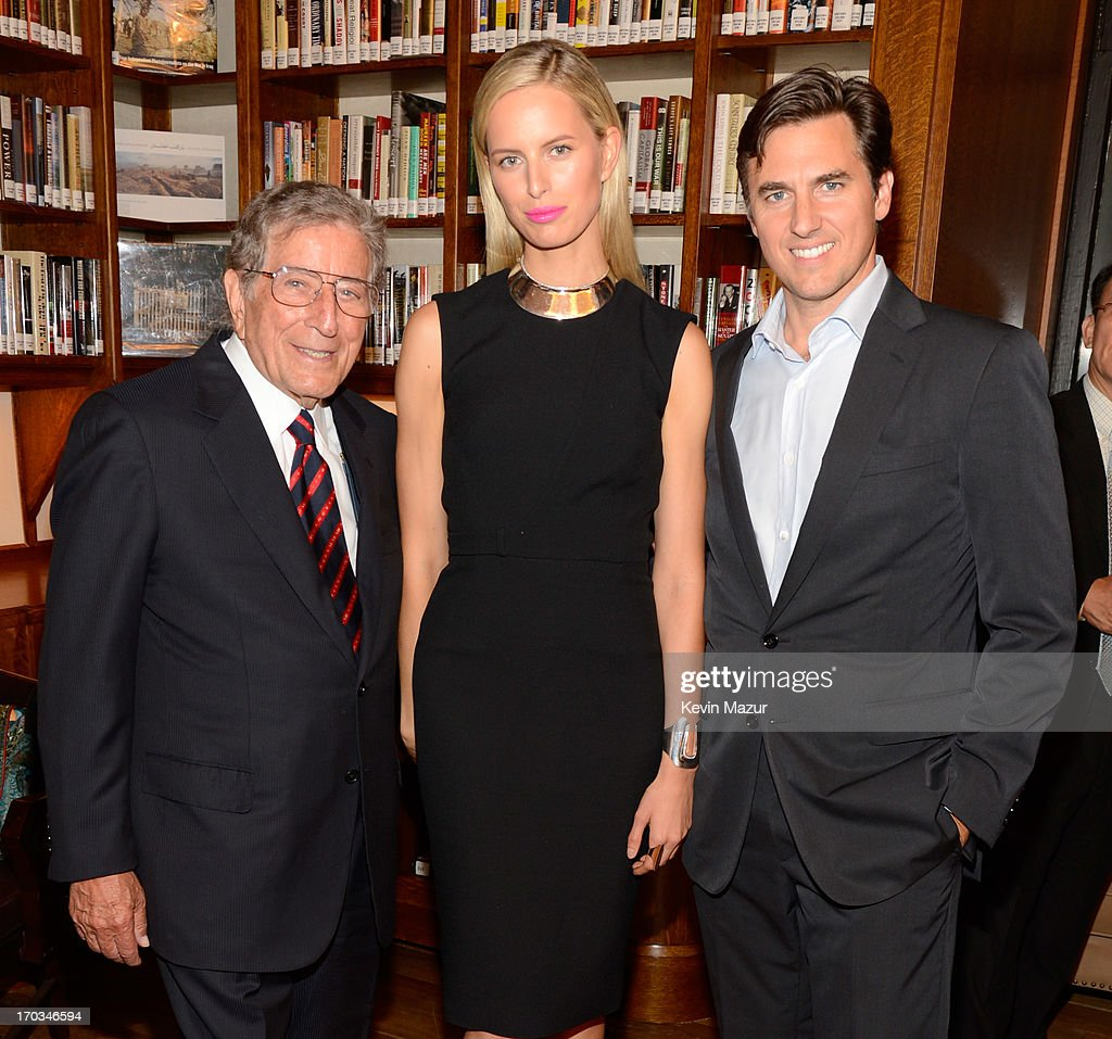 Tony Bennett, Karolina Kurkova and Archie Drury attend the Samsung's Annual Hope for Children Gala at CiprianiÕs in Wall Street on June 11, 2013 in New York City.