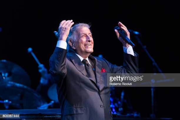 Tony Bennett performs at Glasgow Royal Concert Hall on July 1 2017 in Glasgow Scotland