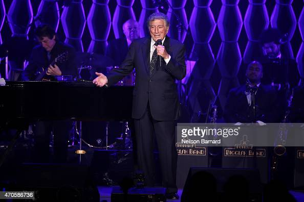 Tony Bennett performs onstage at Sinatra at 100 Music and Film Lincoln Screening of 'On The Town' and performances during the 2015 Tribeca Film...