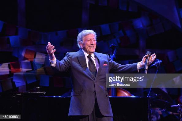 Tony Bennett performs onstage at the SeriousFun Children's Network Gala at Cipriani 42nd Street on April 2 2014 in New York City