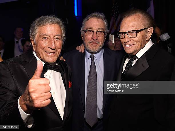 Tony Bennett Robert DeNiro and Larry King attend Friars Club honors Tony Bennett with The Entertainment Icon Award at New York Sheraton Hotel Tower...