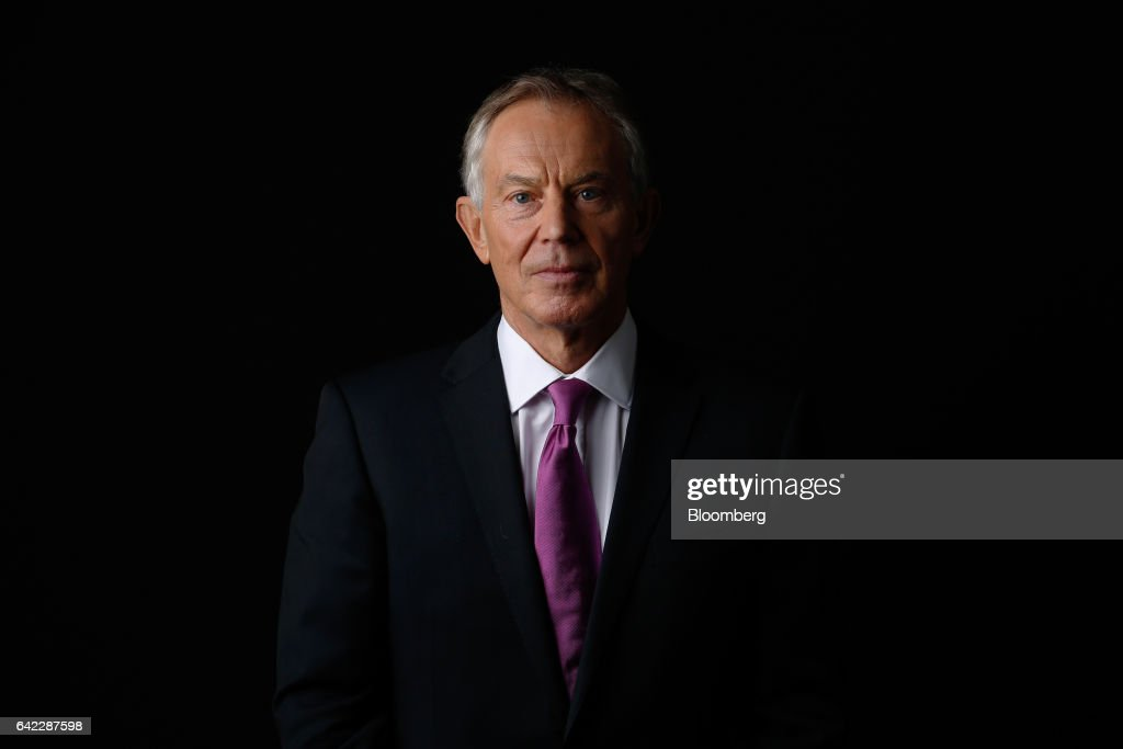 Resultado de imagem para Former British prime minister Tony Blair in 2017. Photo by Luke MacGregor/Bloomberg/Getty