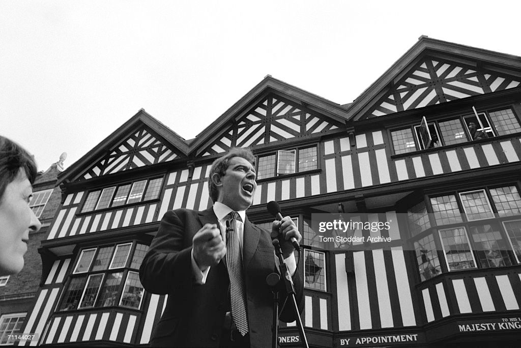 Tony Blair gives an impassioned speech during his successful 1997 General Election campaign to become Britain's first Labour Prime Minister since 1979.