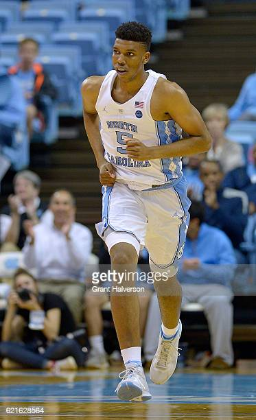 Tony Bradley of the North Carolina Tar Heels against the UNC Pembroke Braves during the game at the Dean Smith Center on November 4 2016 in Chapel...