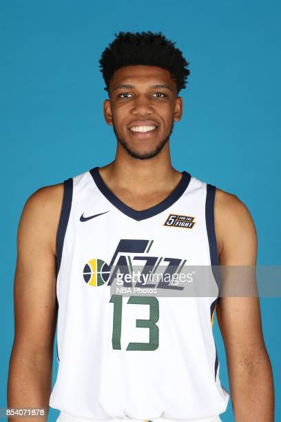Tony Bradley of the Utah Jazz poses for a head shot during media day at Zions Bank Basketball Center on September 25 2017 in Salt Lake City Utah NOTE...