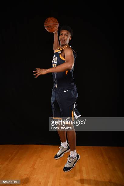 Tony Bradley of the Utah Jazz poses for a photo during the 2017 NBA Rookie Photo Shoot at MSG training center on August 11 2017 in Tarrytown New York...