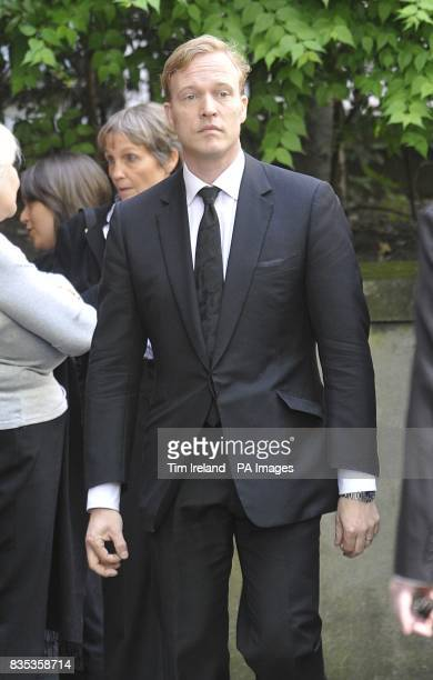 Tony Burnham from Freud Communications arrives at St Bride's Church in Fleet Street London for the funeral of broadcaster writer and former Liberal...