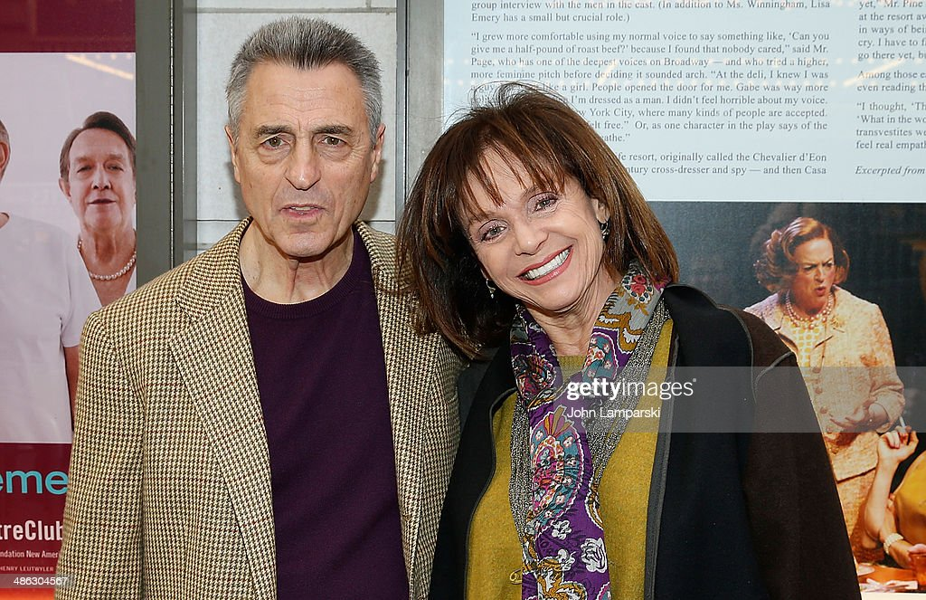 Tony Cacciotti and <a gi-track='captionPersonalityLinkClicked' href=/galleries/search?phrase=Valerie+Harper&family=editorial&specificpeople=206853 ng-click='$event.stopPropagation()'>Valerie Harper</a> attend the Broadway opening night for 'Casa Valentina'>> at Samuel J. Friedman Theatre on April 23, 2014 in New York City.