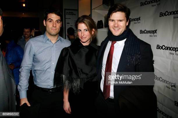 Tony Campos Whitney Larkin and Stonington Cox attend 7th Annual BoCONCEPT/KOLDESIGN Holiday Party at Bo Concept Madison Ave on December 15 2009 in...