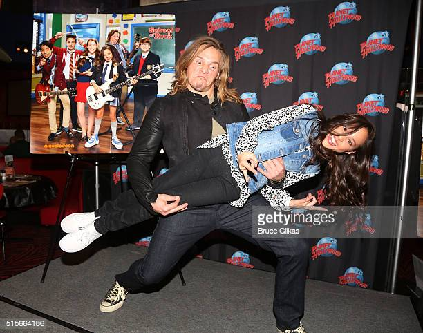Tony Cavalero and Breanna Yde promote thier New Nickelodeon TV Series 'School of Rock' at Planet Hollywood Times Square on March 14 2016 in New York...