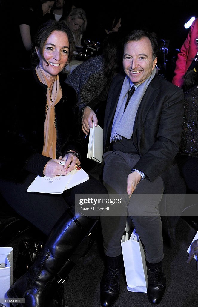 Tony Chamber (R) attends the 2013 International Woolmark Prize Final at ME London on February 16, 2013 in London, England.
