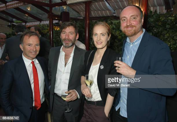 Tony Chambers Mat Collishaw Polly Morgan and Dan Holdsworth attend an event at MarkÕs Club hosted by Wallpaper* EditorinChief Tony Chambers in honour...