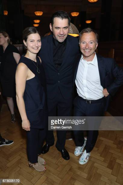 Tony Chambers Roland Mouret and Georgia Dehn attend Roland Mouret's The Dinner of Love at Cecconi's a preopening dinner at The Ned on April 25 2017...