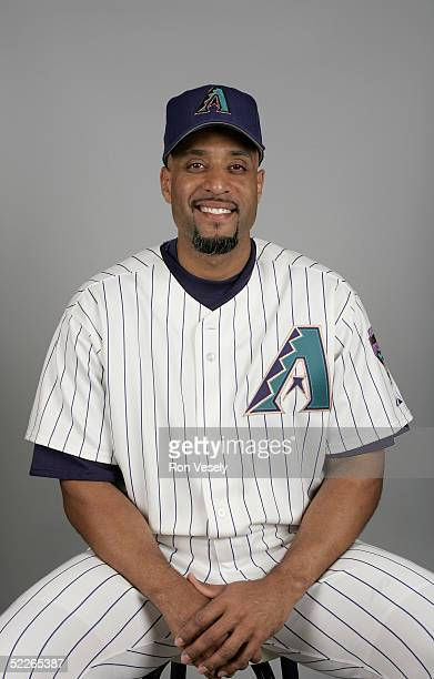 Tony Clark of the Arizona Diamondbacks poses for a portrait during photo day at Tucson Electric Park on February 25 2005 in Tucson Arizona