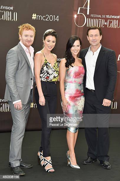 Tony Curran Jaime Murray Julie Benz and Grant Bowler attend a photocall at Grimaldi forum on June 9 2014 in MonteCarlo Monaco