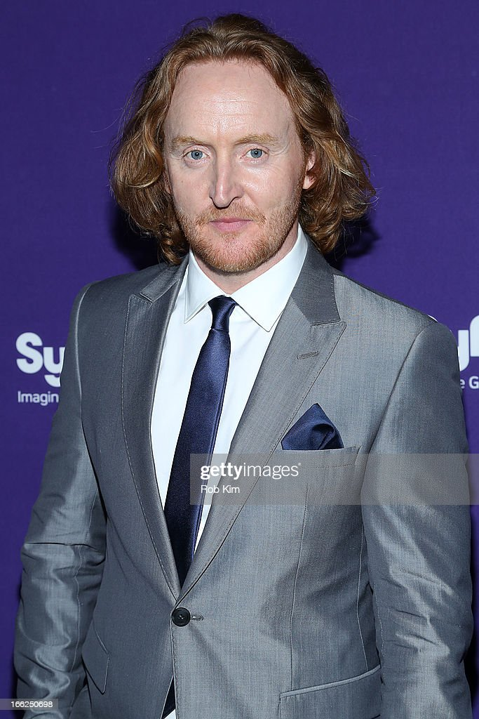 <a gi-track='captionPersonalityLinkClicked' href=/galleries/search?phrase=Tony+Curran&family=editorial&specificpeople=626484 ng-click='$event.stopPropagation()'>Tony Curran</a> of 'Defiance' attends Syfy 2013 Upfront at Silver Screen Studios at Chelsea Piers on April 10, 2013 in New York City.