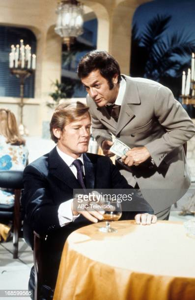 Tony Curtis and Roger Moore in a scene from the TV series 'The Persuaders' 1971