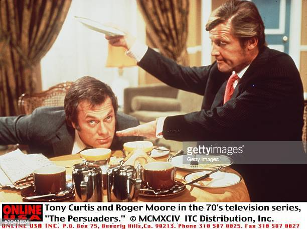 Tony Curtis And Roger Moore In The 70's Television Series 'The Persuaders'