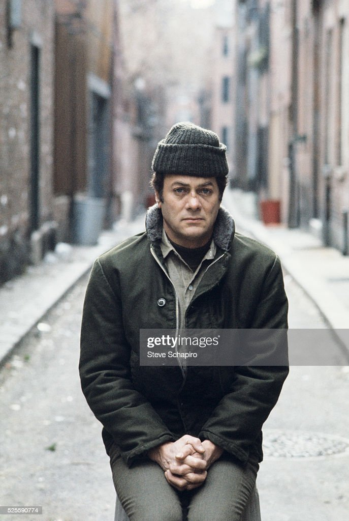 Tony Curtis as Albert DeSalvo in the film The Boston Strangler.