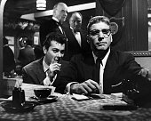 Tony Curtis as publicist Sidney Falco and Burt Lancaster as gossip columnist JJ Hunsecker in Sweet Smell of Success