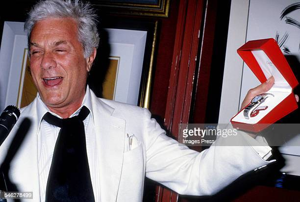 Tony Curtis at Tony Curtis' Art Exhibition at the Sands Hotel and Casino circa 1987 in Atlantic City New Jersey