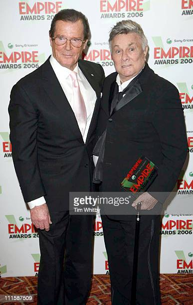 Tony Curtis who was presented with the Empire Lifetime Achievement award by Roger Moore