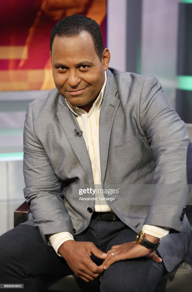 Tony Dandrades is seen on the set of 'Primer Impacto' at Univision's Newsport Studios on March 13, 2017 in Miami, Florida.
