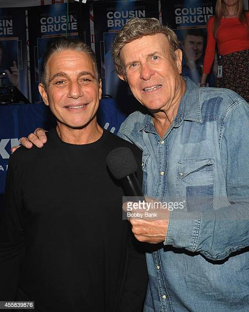 Tony Danza and Bruce 'Cousin Brucie' Morrow attends the SiriusXM's Cousin Brucie Live at San Gennaro Feast on September 20 2014 in New York City