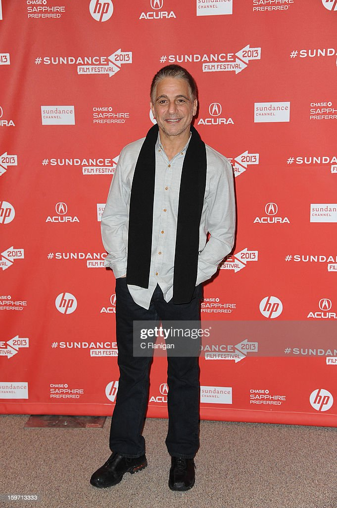 <a gi-track='captionPersonalityLinkClicked' href=/galleries/search?phrase=Tony+Danza&family=editorial&specificpeople=203133 ng-click='$event.stopPropagation()'>Tony Danza</a> attends 'Don Jon's Addiction' Premiere during the 2013 Sundance Film Festival at Eccles Center Theatre on January 18, 2013 in Park City, Utah.