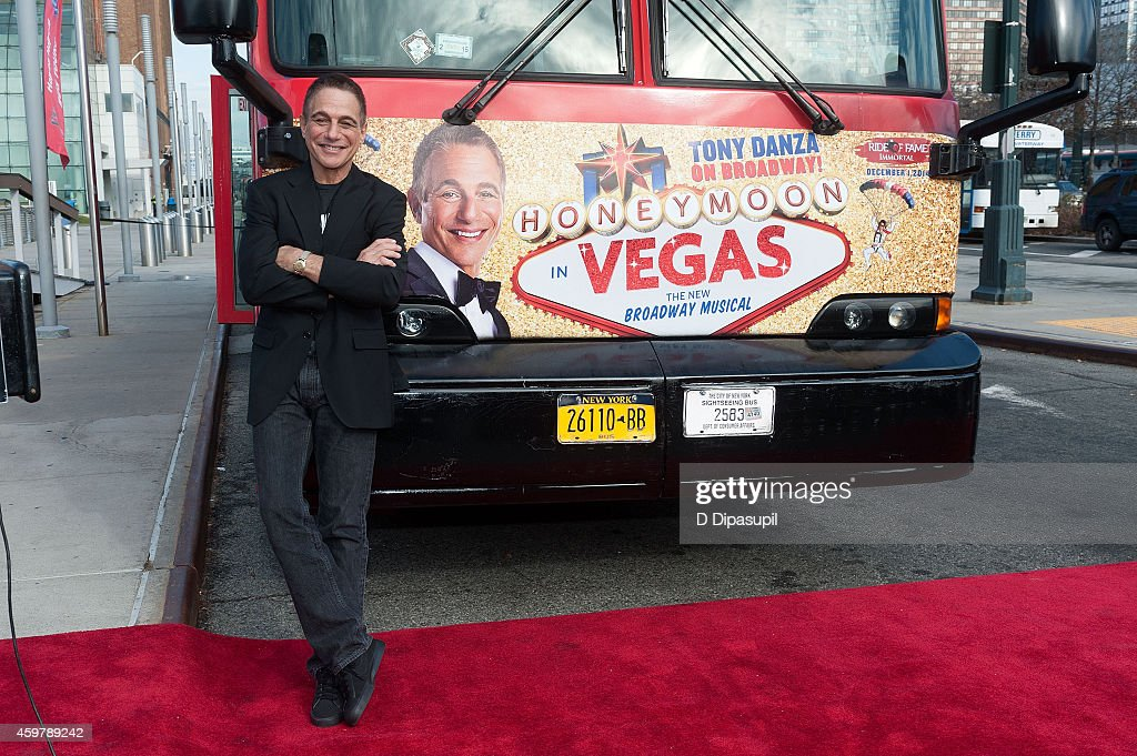 Tony Danza attends the 'Ride Of Fame' induction ceremony for Tony Danza at Pier 78 on December 1 2014 in New York City