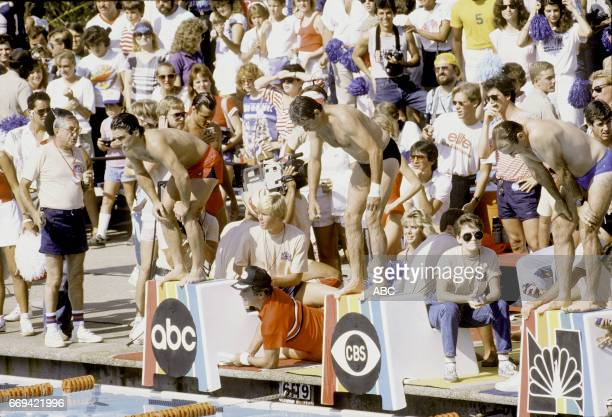 Tony Danza captain WIlliam Shatner captain William Devane James Sikking and Doug Sheehan competed in 'The Battle of the Network Stars XVII' at...