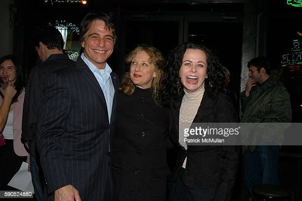 Tony Danza Carol Kane and Geraldine Hughes attend Opening Night Cast Party for Belfast Blues at The Culture Project on January 20 2005 in New York...