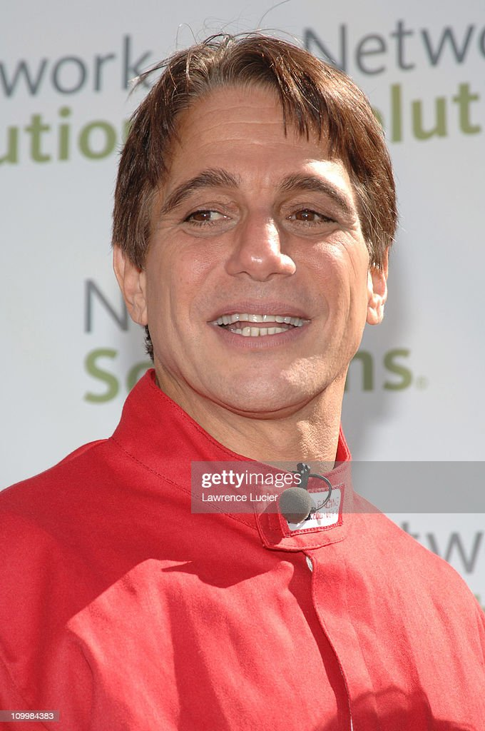 Tony Danza during Danica Patrick and Tony Danza Promote Race to Network Solutions Sweepstakes with GoKart Race at Union Square in New York City New...