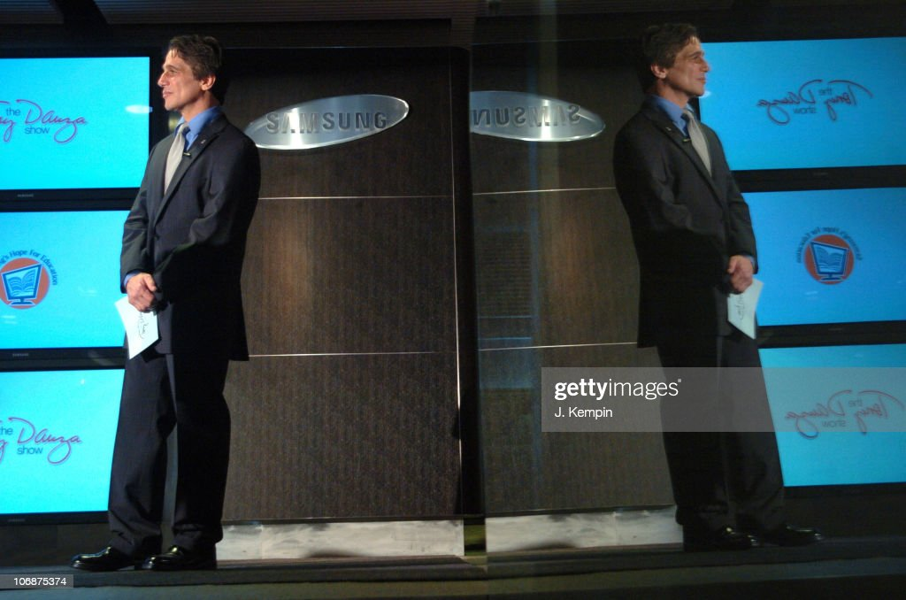 Tony Danza during Tony Danza and Osi Umenyiora of the New York Giants Launch Samsung's 2006 'Hope for Education' Program at The Samsung Experience in...