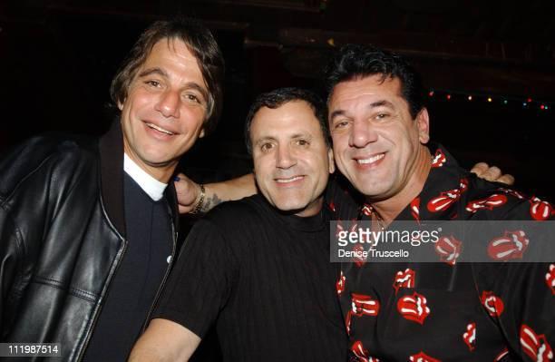Tony Danza Frank Stallone Chuck Zito during Chuck Zito Book Signing Party at Rainbow Bar And Grill in Hollywood California