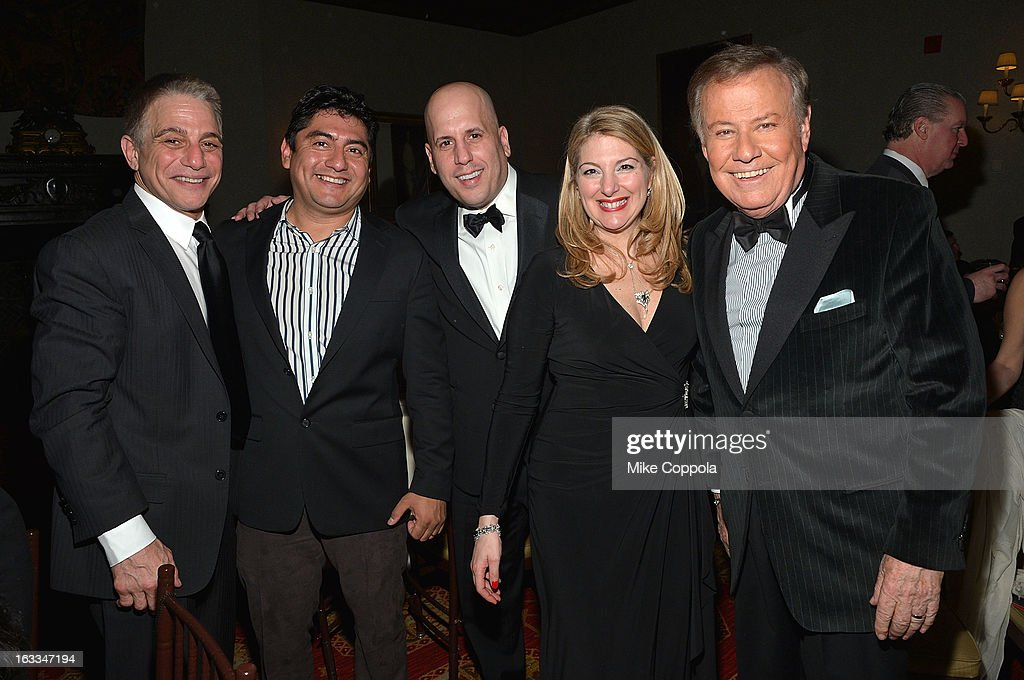 Tony Danza, guest, Carmine Izzi, Table 4 Writers Foundation Chair, Jenine Lepera Izzi and Marvin Scott attend the Table 4 Writers Foundation 1st Annual Awards Gala on March 7, 2013 in New York City.
